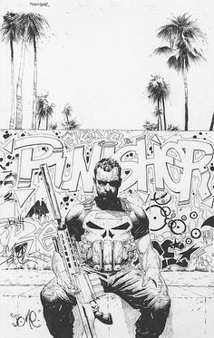 Punisher variant cover by Jerome Opena