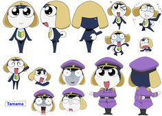 The main frogs from Keroro Gunso/Sgt. Frog