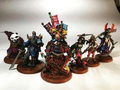 My complete crew of Mazu's Dreadful Curse from Rum and Bones Mini Paintings, Tabletop Games, Rum, Pirates, Board Games, Sculpting, Bones, Miniatures, Instagram Posts
