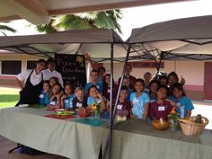 What a great party! Jackie and Marilyn from our culinary team and Grow Some Good spoke with 3rd grade students yesterday at Kamali'i Elementary School about the benefits of eating healthy foods while creating delicious and nutritious pizzas using ingredients grown in the school's new pizza garden. Mahalo to you both!