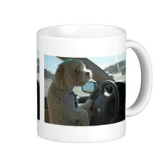 Cockapoo At The Wheel Mug - drink your coffee, i'll drive..{:-)
