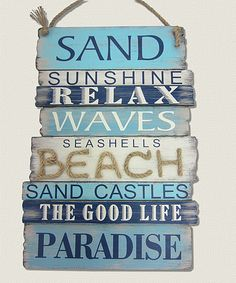 Loving this Blue Plank Wall Sign on #zulily! #zulilyfinds