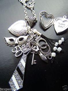 50 Shades of Grey Charm Necklace Fifty Shades of Grey Flogger | eBay