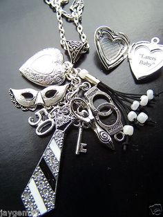 50 Shades of Grey Charm Necklace Fifty Shades of Grey Flogger | eBay