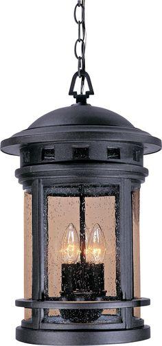 "Sedona 11"" Wide Seedy Glass Bronze Outdoor Hanging Light"