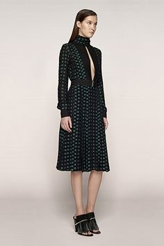 """""""I love the elegance of this dress — chic, but with the dramatic keyhole neck,"""" Ricker says. """"It's sexy and reminds me of something Anjelica Huston would have worn in the '70s."""""""