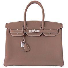 a0f970c671  Hermes Birkin  Bag Etoupe Togo Palladium Hardware Hermes Bags