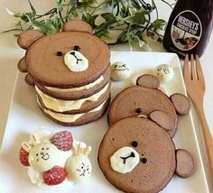 Imagen de food, pancakes, and bear