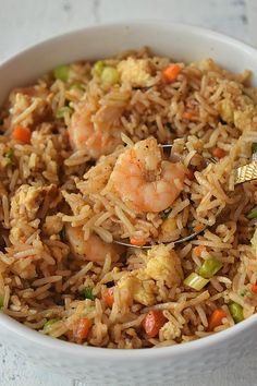 Authentic Chinese Shrimp Fried Rice Easy,Fried Rice recipe,Better Than Takeout ,Restaurant-Style Shrimp Fried Rice Healthy Rice Recipes, Shrimp And Rice Recipes, Shrimp Recipes For Dinner, Seafood Recipes, Healthy Food, Chinese Shrimp Fried Rice, Fried Rice Recipe Chinese, Best Fried Rice Recipe, Best Chinese Food