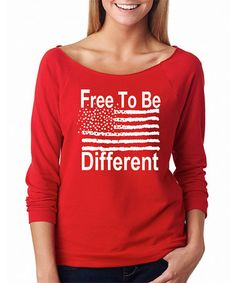 Love this Red 'Free To Be Different' Raglan Tee on #zulily! #zulilyfinds