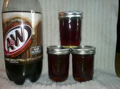 New addition to my Gourmet Jelly Line.Root Beer Jelly - it's yummy! Beer Jelly Recipe, Jelly Recipes, Jam Recipes, Dr Pepper Jelly Recipe, Yummy Recipes, Freezer Recipes, Yummy Food, Freezer Meals, Gourmet