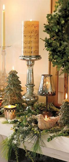 Home For The Holidays ... mercury glass makes a stunning display