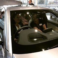 So Debbie @story_mama and I thought we'd better see what it felt like to sit in the all new BMW 5 series at tonight's #MonashBizAwards networking event at @waverleybmw It was fun! #business #newcar #BMW #contentmarketing #WaverleyBMW #Monash