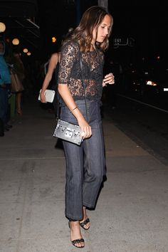 Alicia Vikander's Off-Duty Look Is Every Bit as Glamorous as Her Red Carpet Style