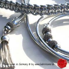 Showleine-Ausstellungsleine-Leder-Strass-Silber-8
