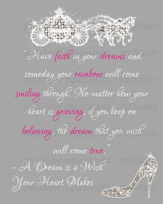 A Dream is a Wish Quote with Rhinestone Graphics by KWPCreations, $5.00
