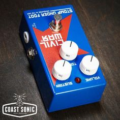 Stomp Under Foot Civil War Effects Pedal, new, free USA shipping Coast Sonic Pedal Providers