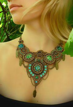 ~~ Spirit of freedom - Sea Sediment Jasper necklace by JewelryElenNoel ~~