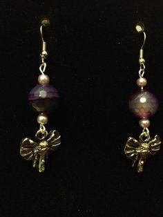 Purple Elephant Earrings by queenofqeeks on Etsy, $8.00