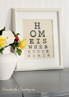 Free Eye Chart Mother's Day Printable