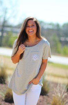 Dress up an everyday look with our cute Boyfriend Tee || Multiple colors available.