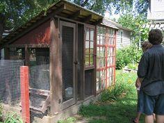 Chicken coop/greenhouse combo