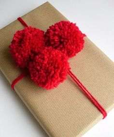 Pompom and paper wrap