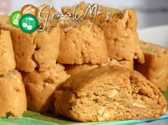 GreekMasa - Παξιμαδάκια πορτοκαλιού με αμύγδαλο Greek Sweets, Greek Desserts, Greek Recipes, Brownie Recipes, Cake Recipes, Greek Cake, Food Network Recipes, Cooking Recipes, Greek Cookies