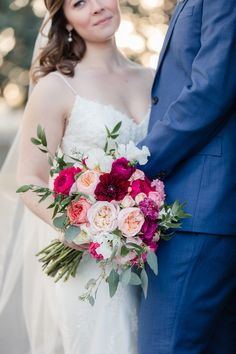 Peach and Pink wedding bouquet - Royal Bee Florals and Events