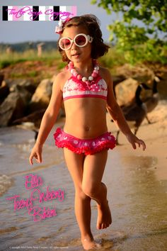 Ella - Teeny Weeny Bikini and Lil' Side Snapper Soup Company, Turtle Soup, Swimsuits, Bikinis, Swimwear, Ruffle Swimsuit, Girls Swimming, Eyelet Lace, Swim Bottoms