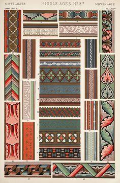 The grammar of ornament by Jones, Owen, 1809-1874 (1910). [Mediæval ornament. Plates 66, 67, 67*, 68, 69, 69*, 70, 71, 72, 73],   pp. PL. LXVI-PL. LXXIII ff.