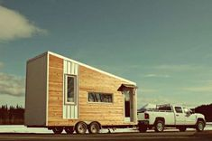 Weather-Resistant Mini Homes  The Leaf House Sits on Four Wheels and Can Fit a Family of Four