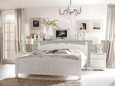Bett 160 x 200 cm Kiefer teilmassiv weiss lackiert Woody 19-00507
