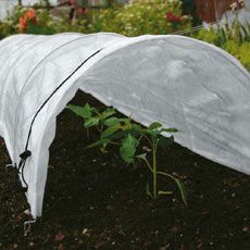 Easy Fleece Tunnel - Standard: The galvanised wire hoops are built into the cover, and the tunnels fold away concertina-style for easy storage. Drawstring feature enables open or closed ends for v… - Dobies Garden Cloche, Sutton Seeds, Crop Protection, Row Covers, Plant Covers, Garden Insects, Garden Equipment, Garden Structures, Growing Plants