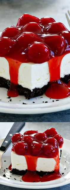 This delicious No-Bake Oreo Cheesecake recipe from Jamie over at My Baking Addiction combines all of your favorite things in one easy to make dessert!