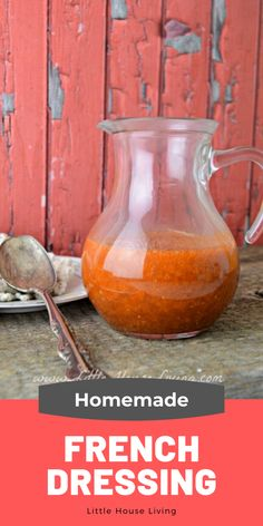 Want to make your own homemade French Dressing recipe? This one is so simple and can be made into a traditional or creamy style French Dressing. Homemade French Dressing, Old Fashioned Goulash, Little House Living, Breakfast Recipes, Dinner Recipes, Dehydrated Food, Old Fashioned Recipes, Old Fashioned Cocktail, Dressing Recipe