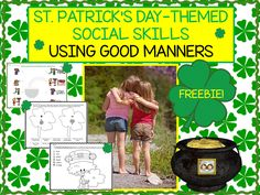"""Hello! Do you enjoy doing holiday-themed therapy sessions? If you do, and if you are looking for some social skills materials, we would like you to know about our latest freebie. It is called, """"St. Patrick's Day-Themed Social Skills: Using Good Manners."""" In this freebie you will find: 1) Two nice manners worksheets. Students areRead more"""