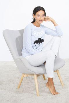 """women'secret   Productos   Pijama largo """"Boo!"""" en algodón 32,99 €"""