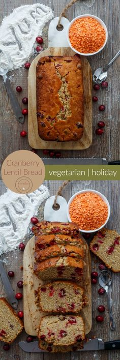 Cranberry Lentil Bread | http://thecookiewriter.com | @thecookiewriter | #bread #lovelentils #sponsored | Homemade is the way to go this holiday season, so enjoy this cranberry lentil bread! You would never guess it contains lentils :)