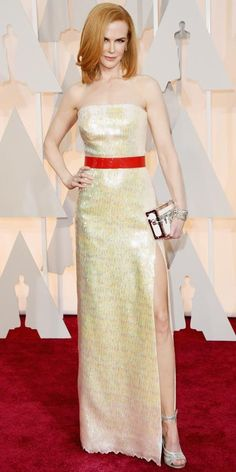 Academy Awards 2015 Red Carpet Arrivals - Nicole Kidman in Louis Vuitton, Harry Winston jewels #InStyle #Oscar2015