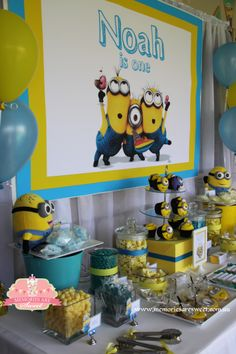 Minion Party | Dessert Table | Lolly Buffet | Printables | Paperie Styling and Paperie by Memories are Sweet