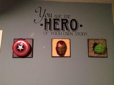 Maddox's super hero room I did