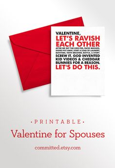 Funny printable Valentine for dads.