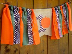 Little Pumpkin Birthday Banner HighChair High by SeacliffeCottage