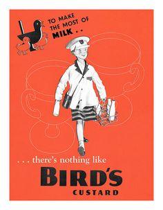Bird's Custard ad 1940s