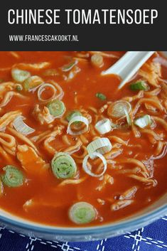 Chinese tomatensoep - Francesca Kookt Pork Recipes, Lunch Recipes, Asian Recipes, Cooking Recipes, Quick Healthy Meals, Healthy Recipes, I Love Food, Good Food, Dairy Free Diet