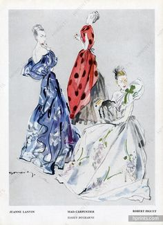 Jacques Demachy 1947 Jeanne Lanvin, Mad Carpentier, Robert Piguet, Ducharne