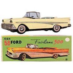 1958 Bandai, Ford Fairlane 500 Convertible in Original Box