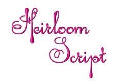 Heirloom Script Monogram Font Machine by FancyFontsEmbroidery, $14.99
