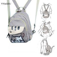 Free Shipping Cat Backyard Print Girls Lolita Shoulder Bag Adorable Student  Backpack Cartoon Mini Chest Bag 84d093168fbac
